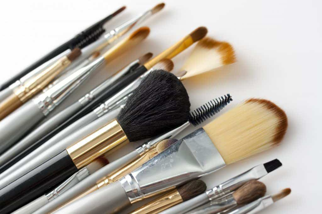have a selection of brushes- one for each makeup task
