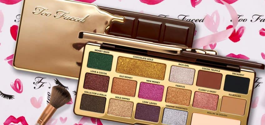 too faced gold chocolate palette
