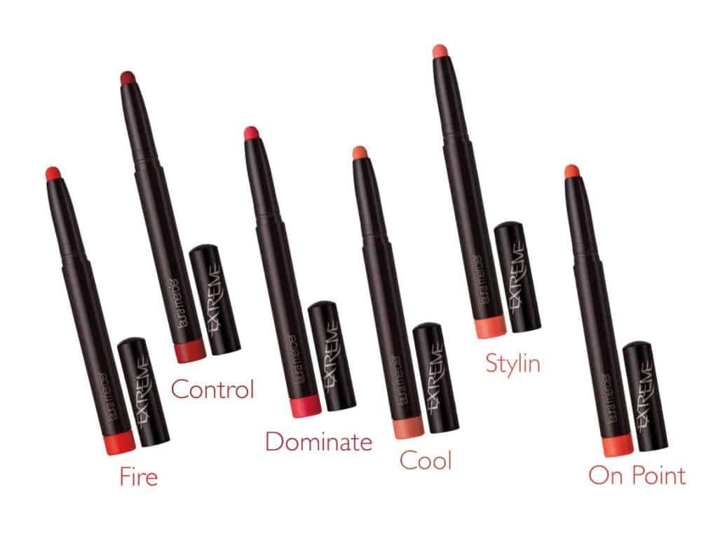 Velour Extreme Matte Lipstick reds and corals