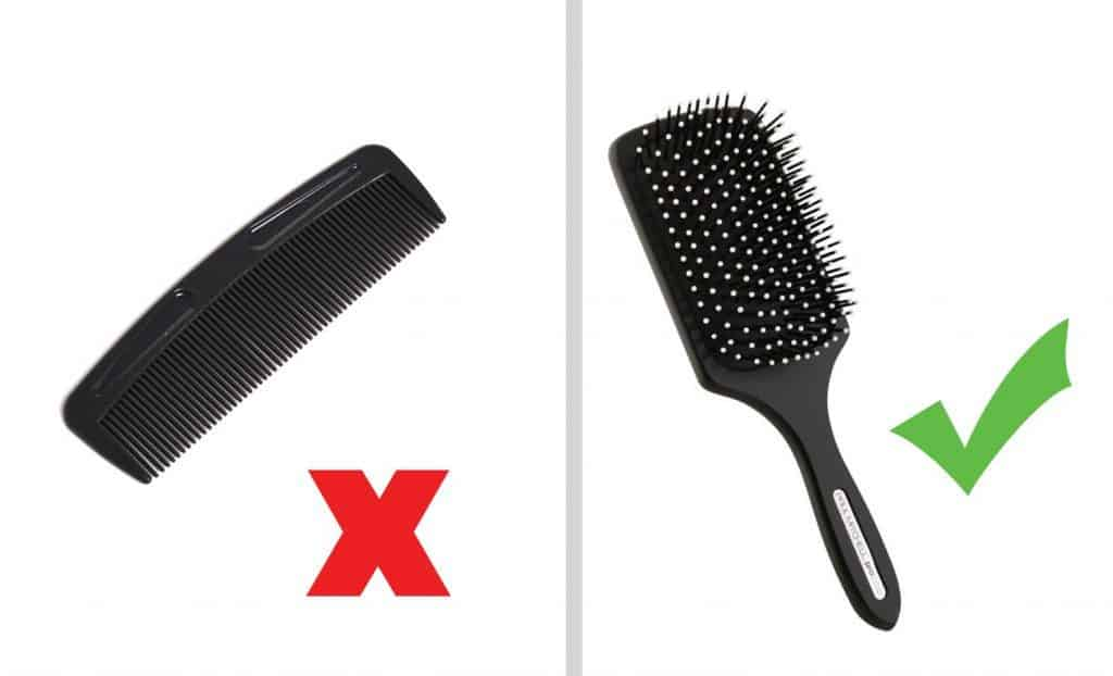 use paddle brush