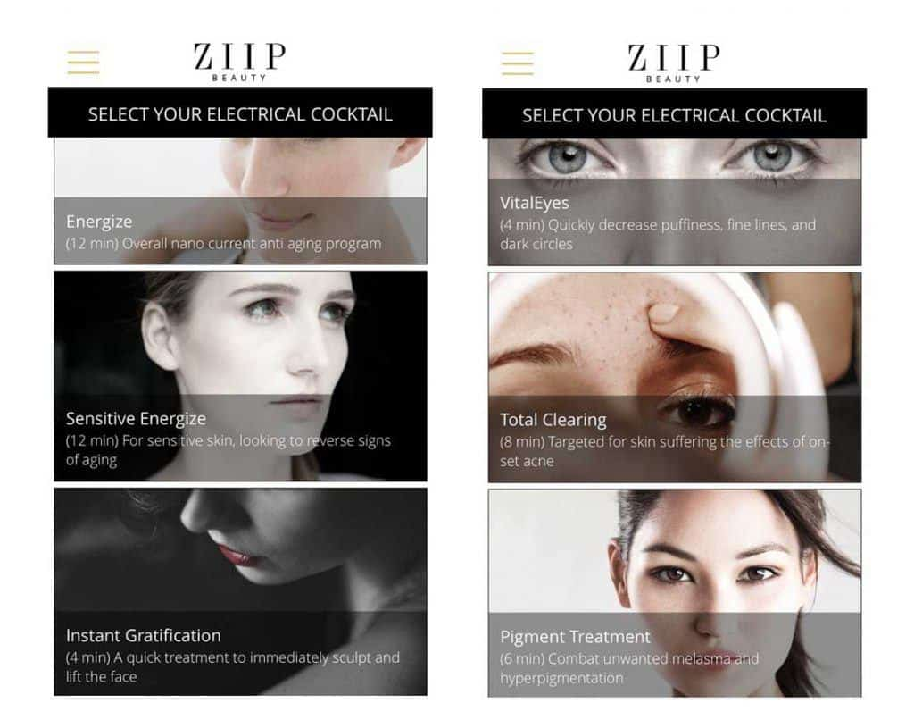 ziip beauty nano device electrical cocktails