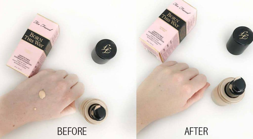 born this way foundation swatches