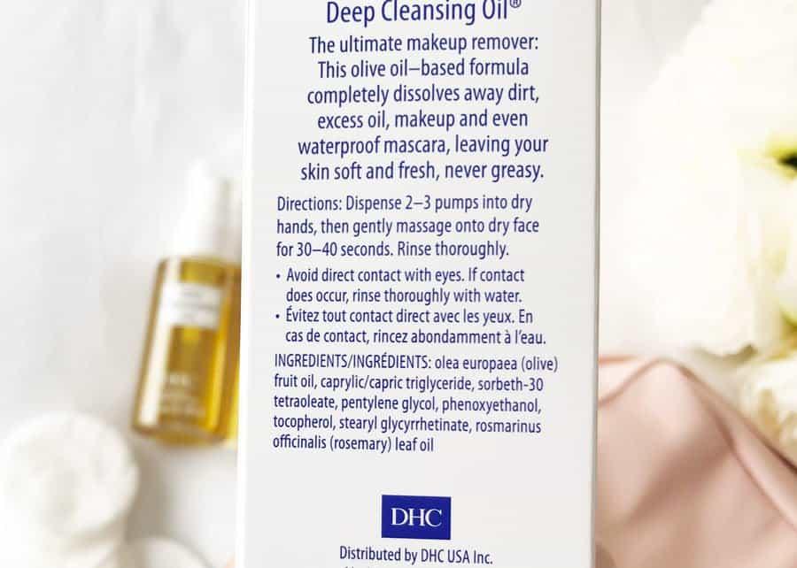 dhc deep cleansing oil ingredients