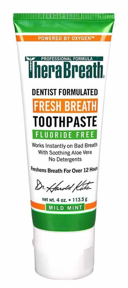 Therabreath toothpaste stop bad breath