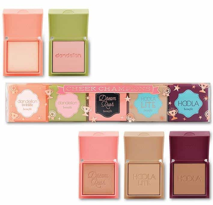Benefit Cosmetics 5 Piece Cheek Champions Gift Set