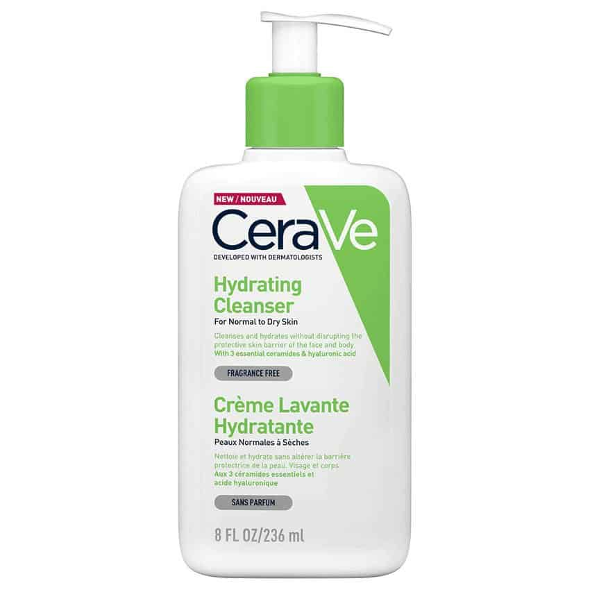 CeraVe Hydrating Facial Cleanser for sensitive skin