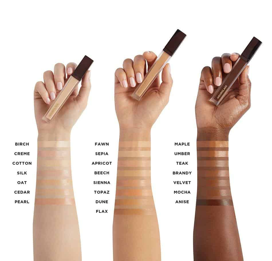 Hourglass Vanish Airbrush Concealer swatches