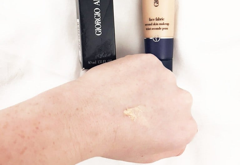 face fabric foundation swatch