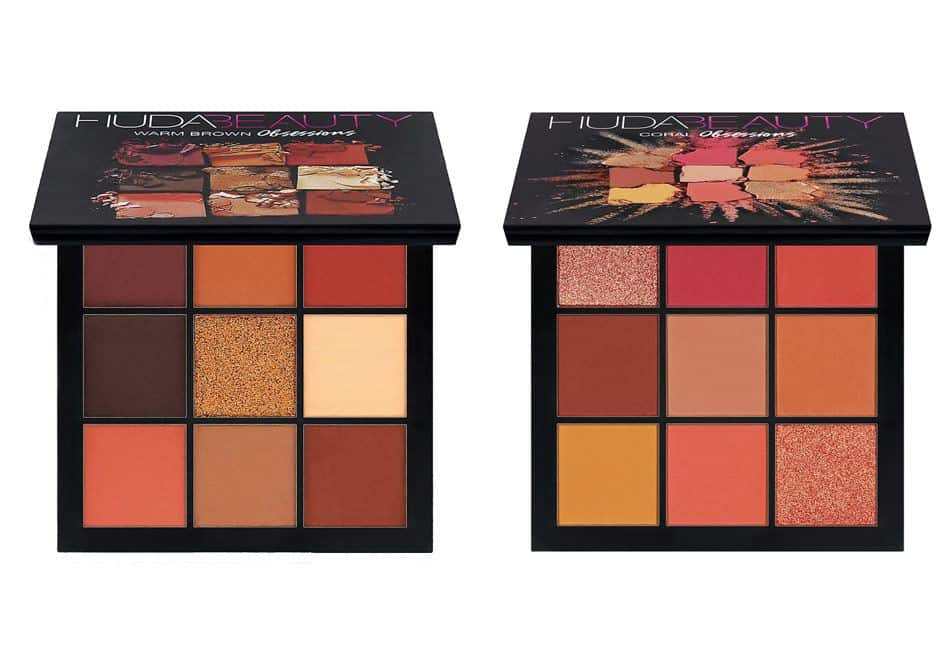 Huda Beauty Obsessions Coral & Warm Brown Palette