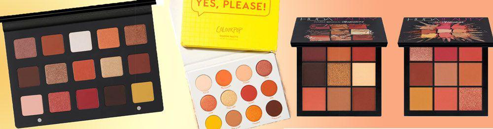 Warm Nudes & Oranges eyeshadow palette dupes