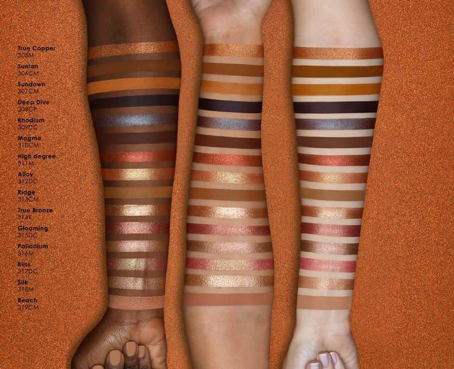 Natasha Denona Bronze Eyeshadow Palette swatches