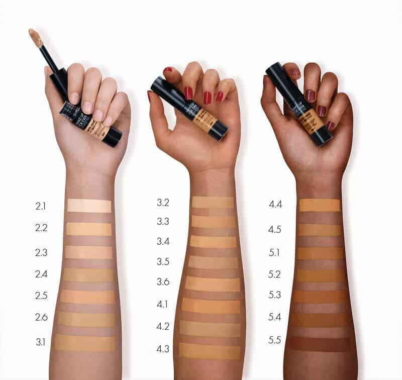 Makeup Forever Matte Velvet Skin High Coverage Multi-Use Concealer Swatches