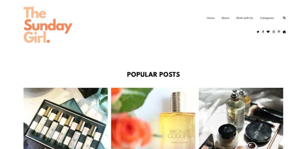 the sunday girl blog