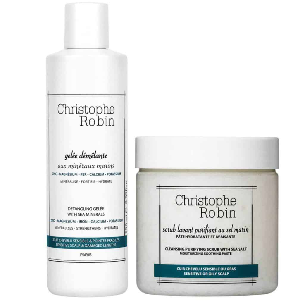 Christophe Robin Detangling Gelée and Cleansing Purifying Scrub with Sea Salt