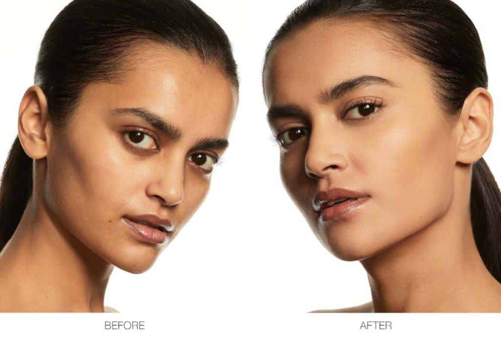 The NARS Soft Matte Complete Foundation before and after