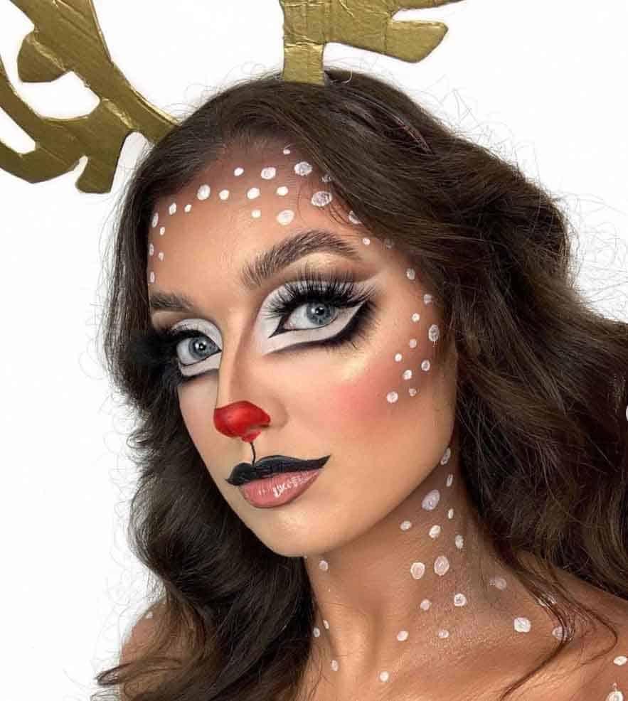 Rudolph makeup look