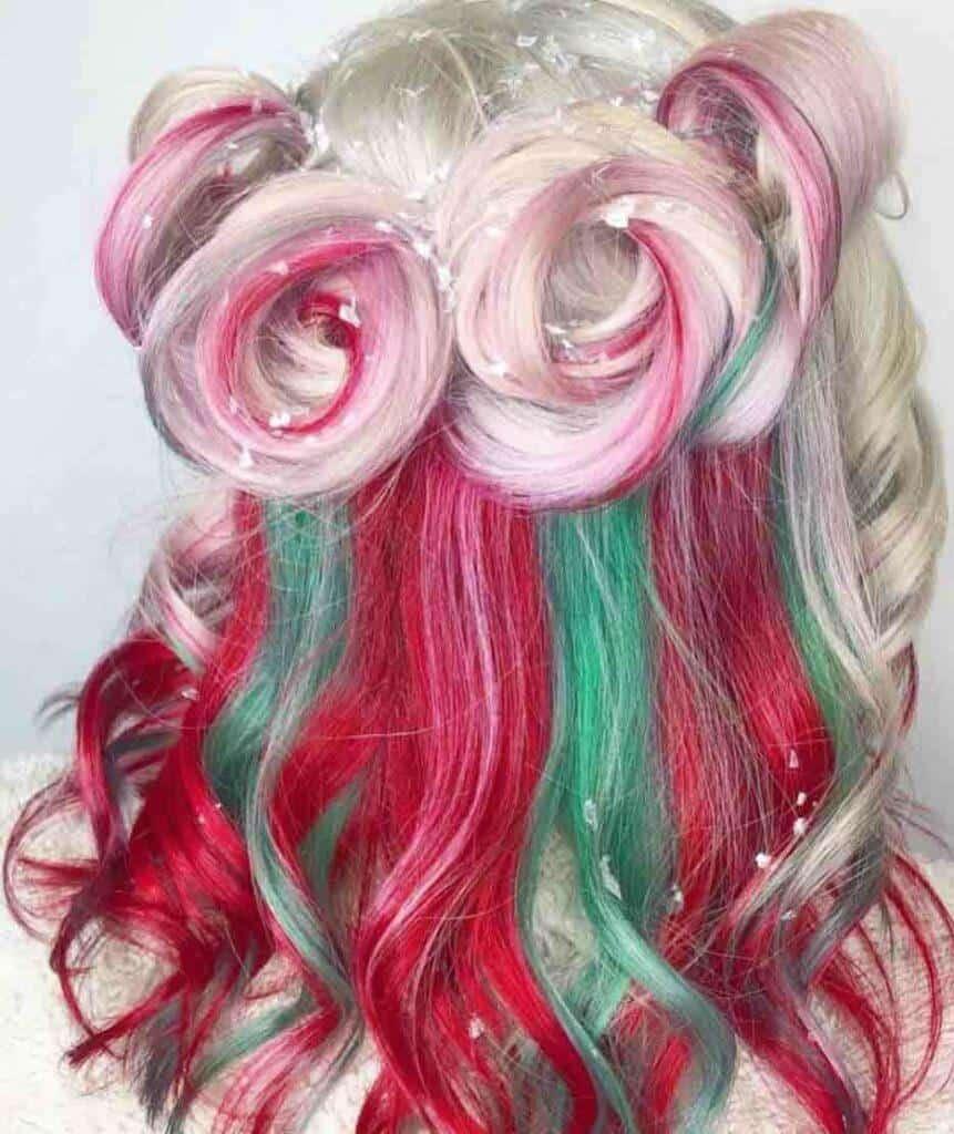 Candy Cane Hair