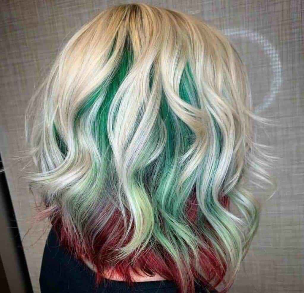 Christmas Colours hair