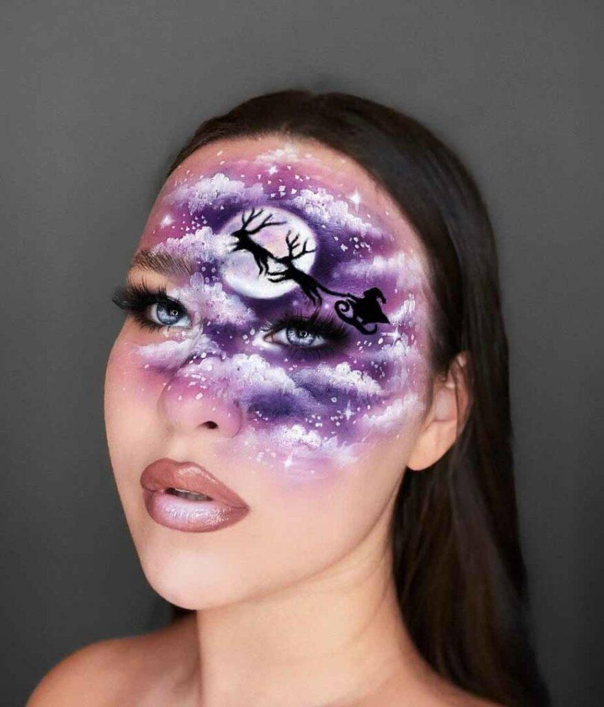 Santa Sleigh makeup