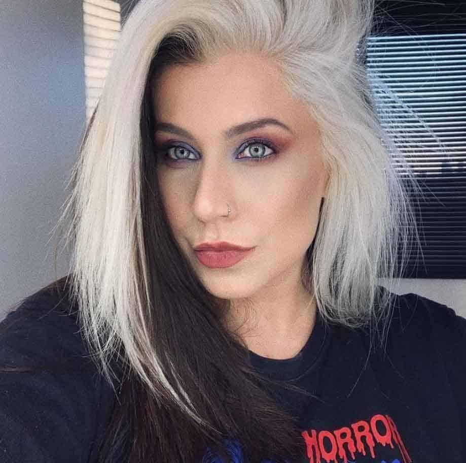 Blonde Hair With Black Streak