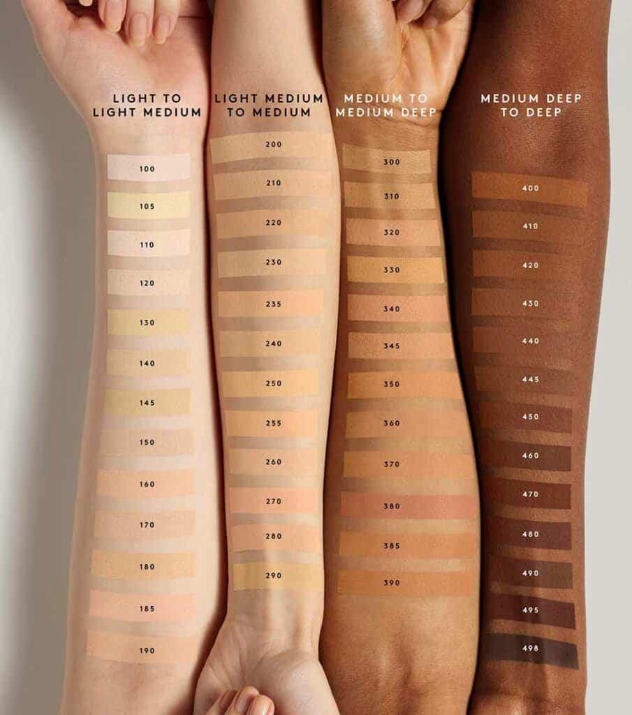 Fenty Beauty Pro Filtr Soft Matte Powder Foundation swatches