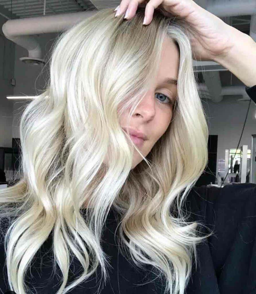 Long Bright Blonde Hair