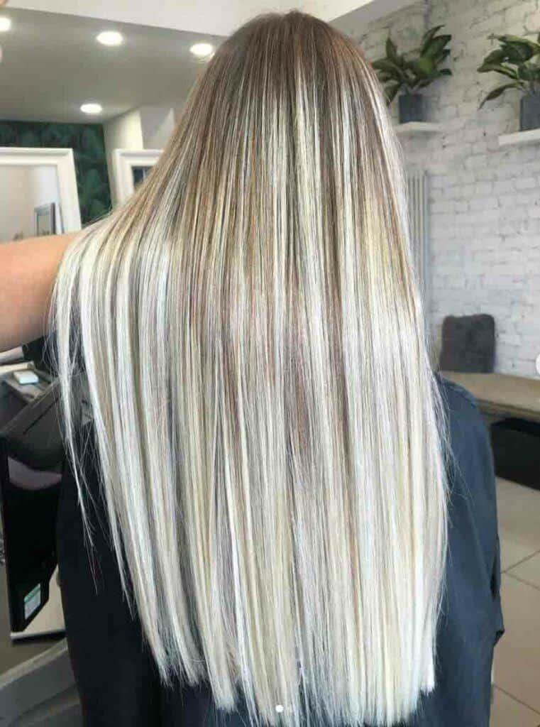 Long Hair Brunette To Bright Blonde