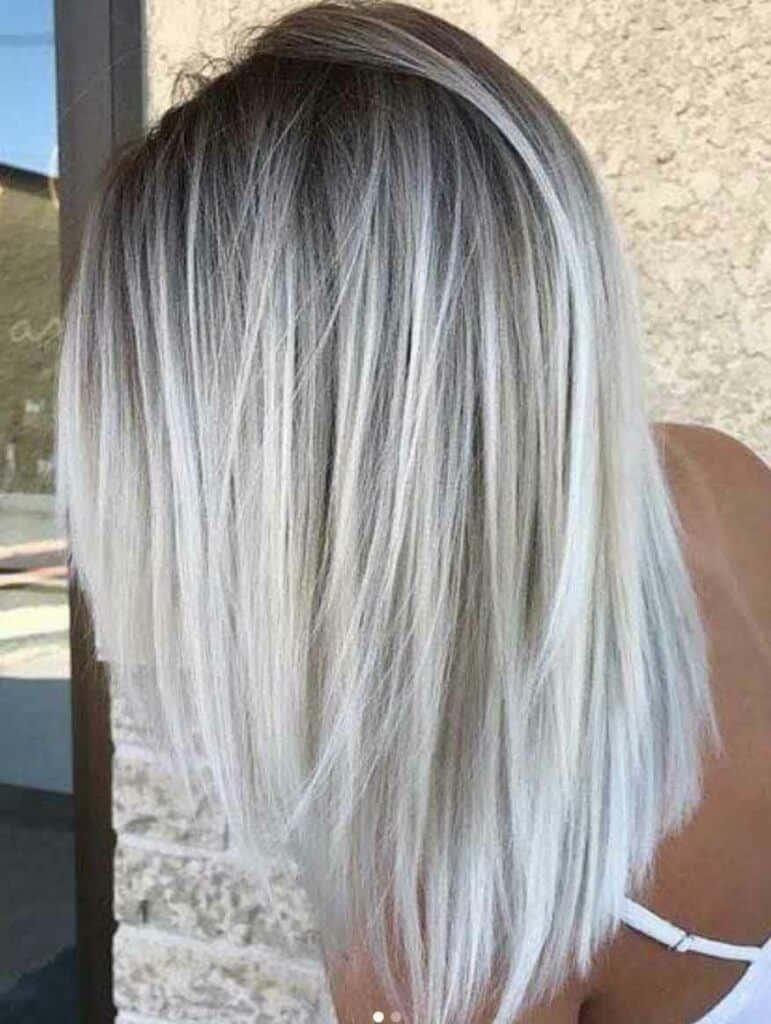 Medium Length Hair With Black to Blonde Balayage