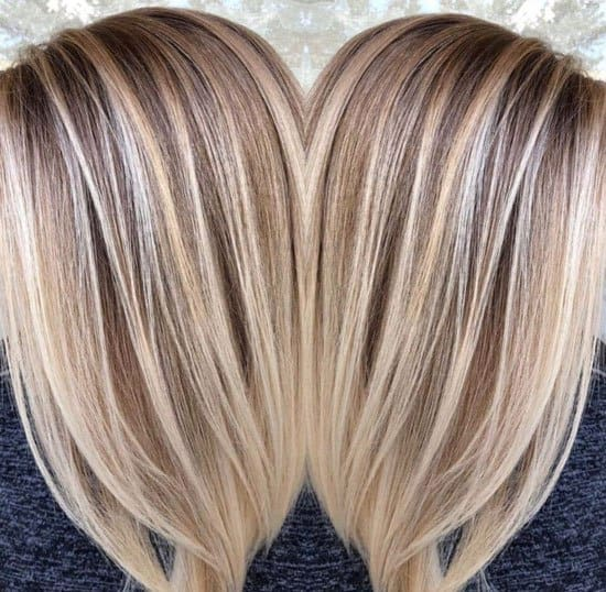 Mid-Length Blonde Hair With Highlights