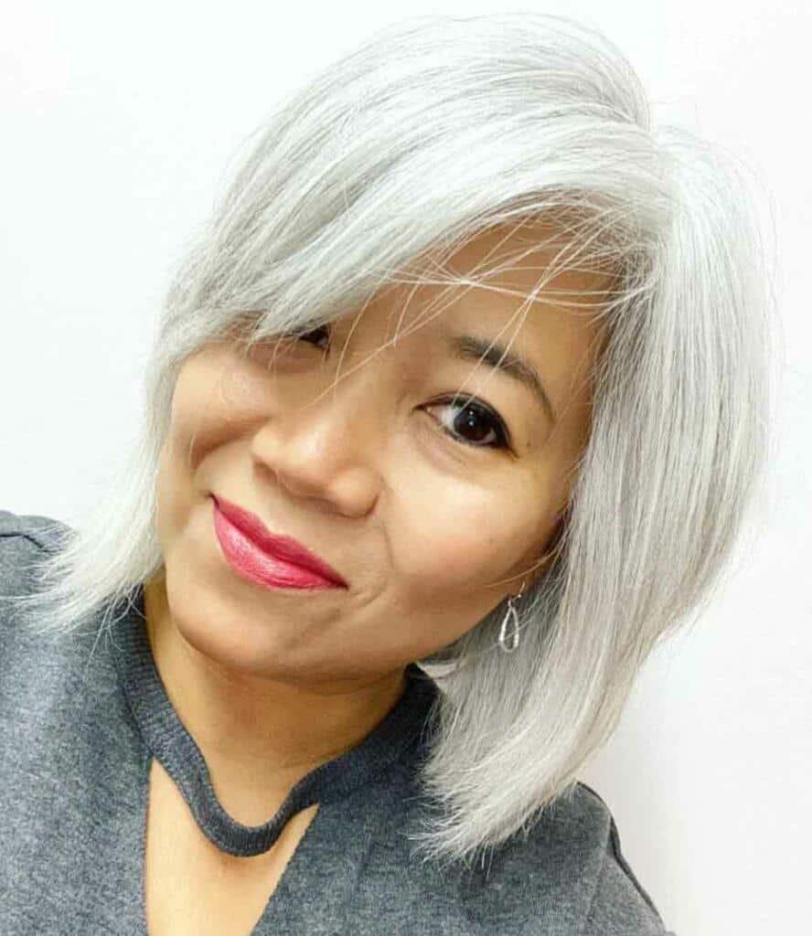Short Solid Grey Hair