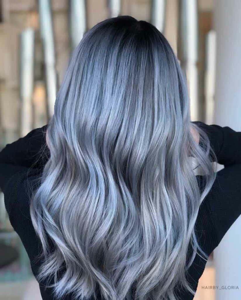 Silver or Blue Hair?