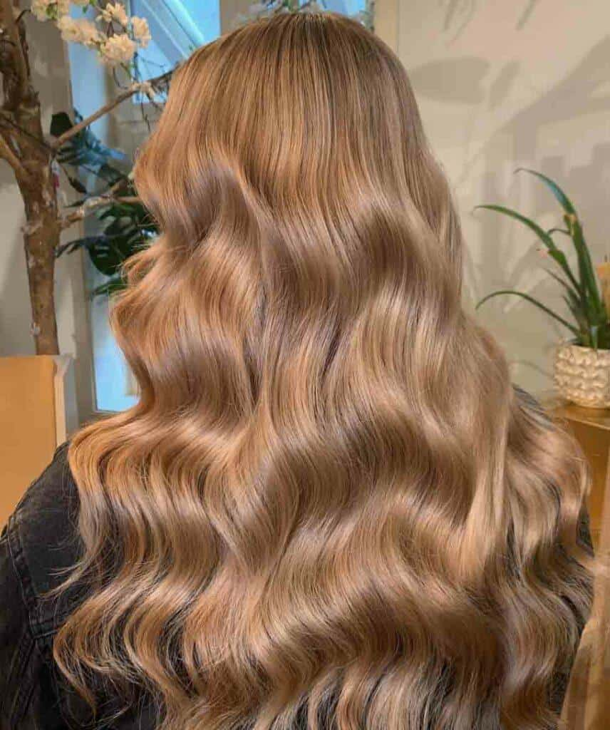 Sleek Long Caramel Hair