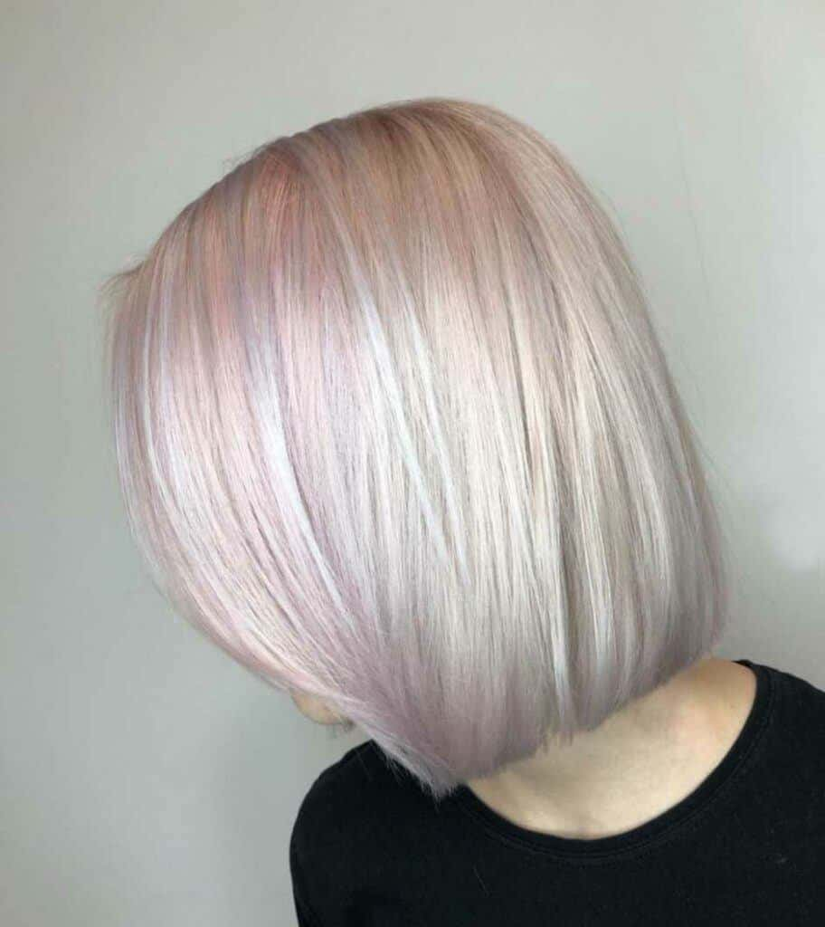 Blonde Bob With Pink Highlights