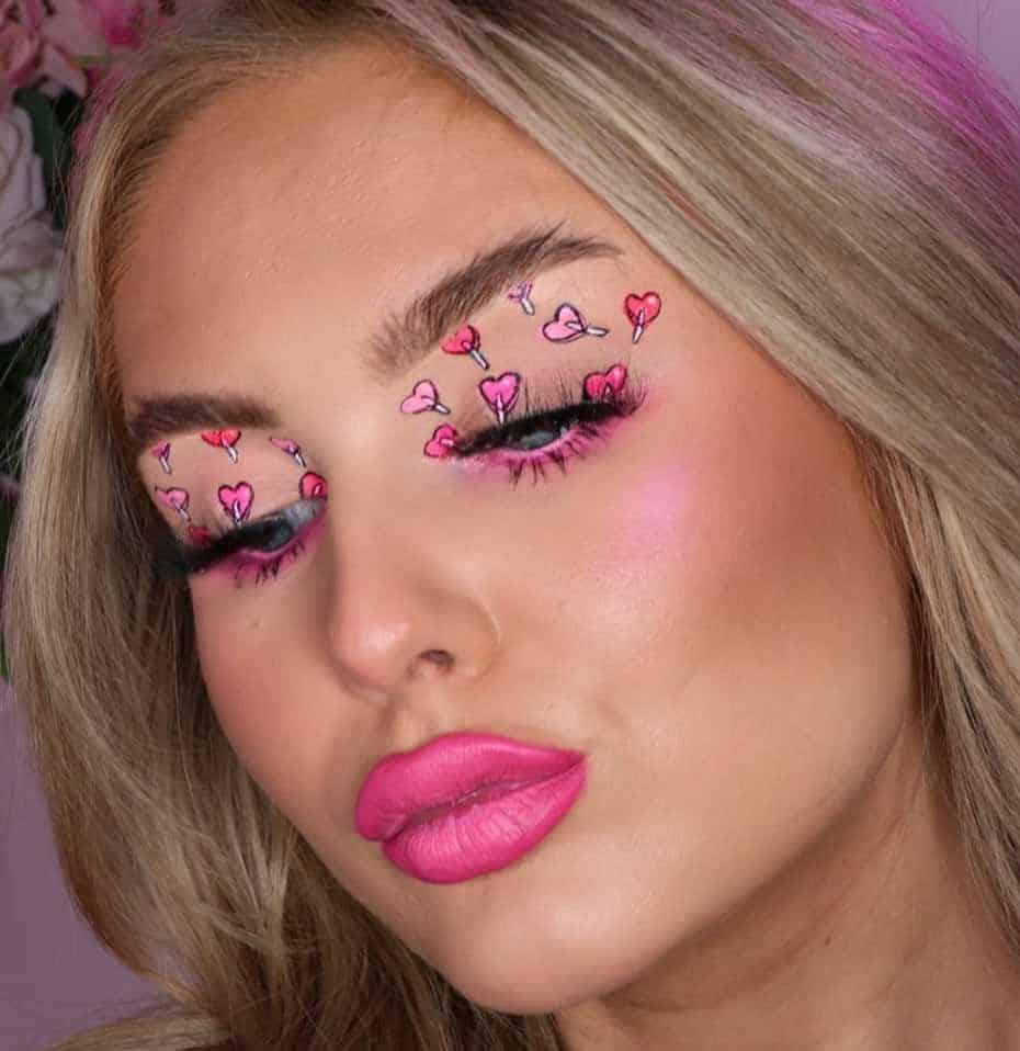 Pink Heart Lollies