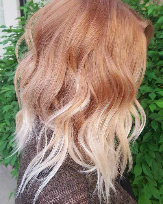 Red to Blonde Balayage