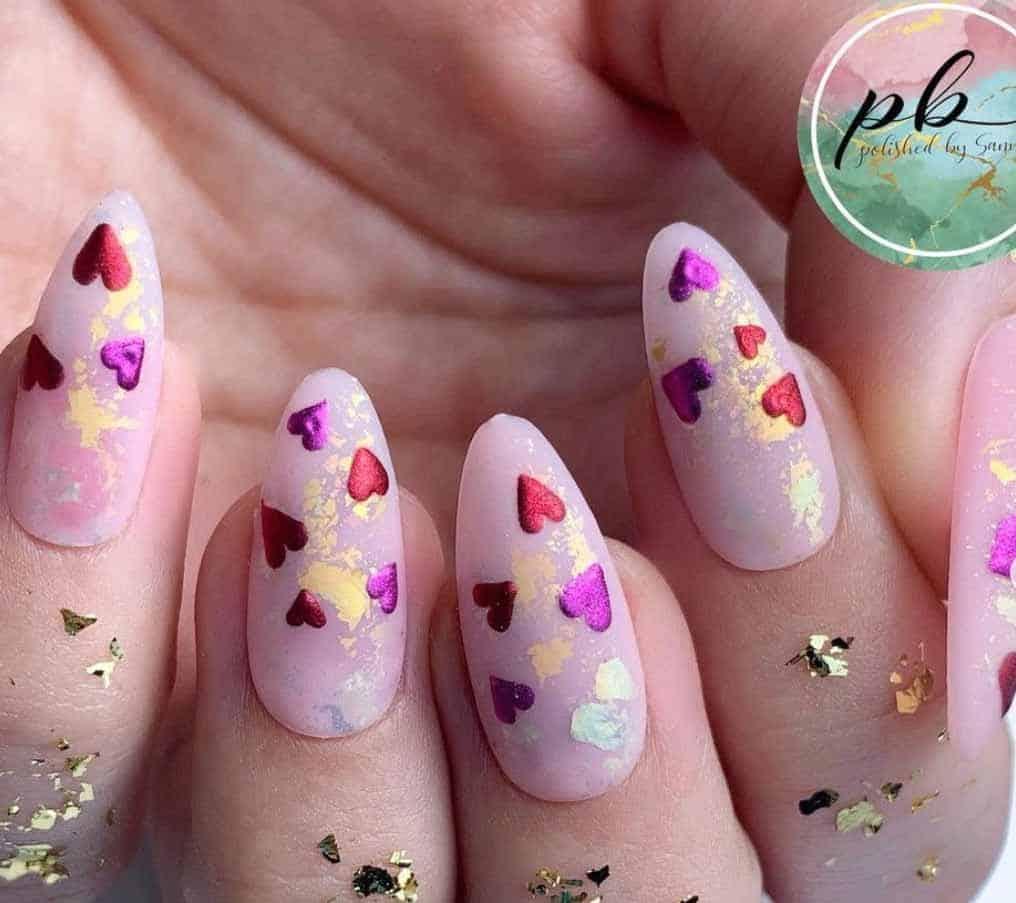 Chrome Valentine's Nails