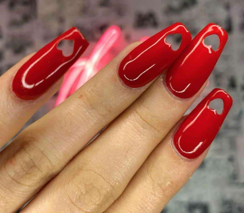 Cut-Out Heart Nails