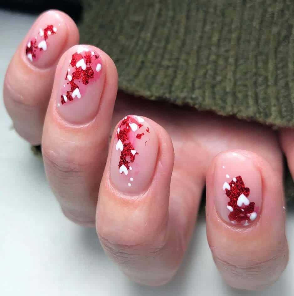 Abstract nails hearts