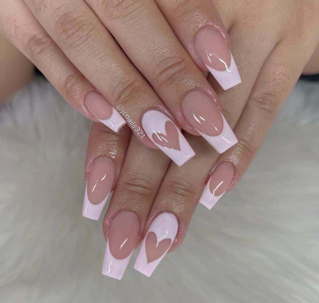 Valentine's French Nail
