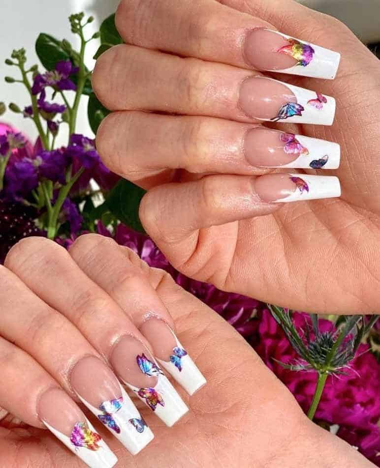 Butterfly french manicure