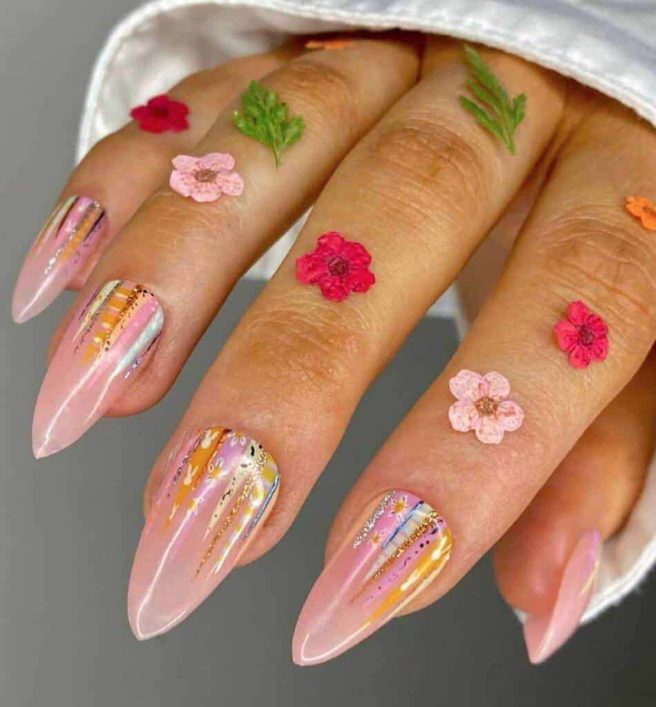Spring Icicle Nails