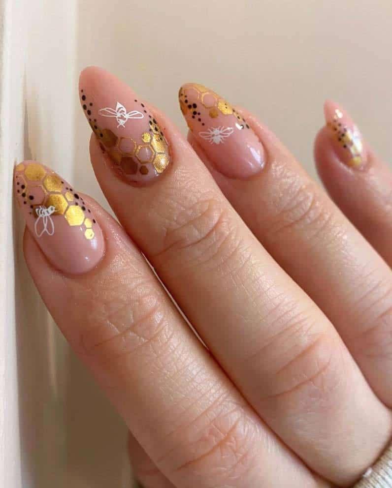 Sweet Like Honey Nails