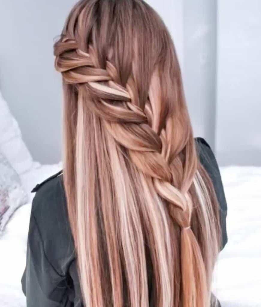 Half Up Lace Braid