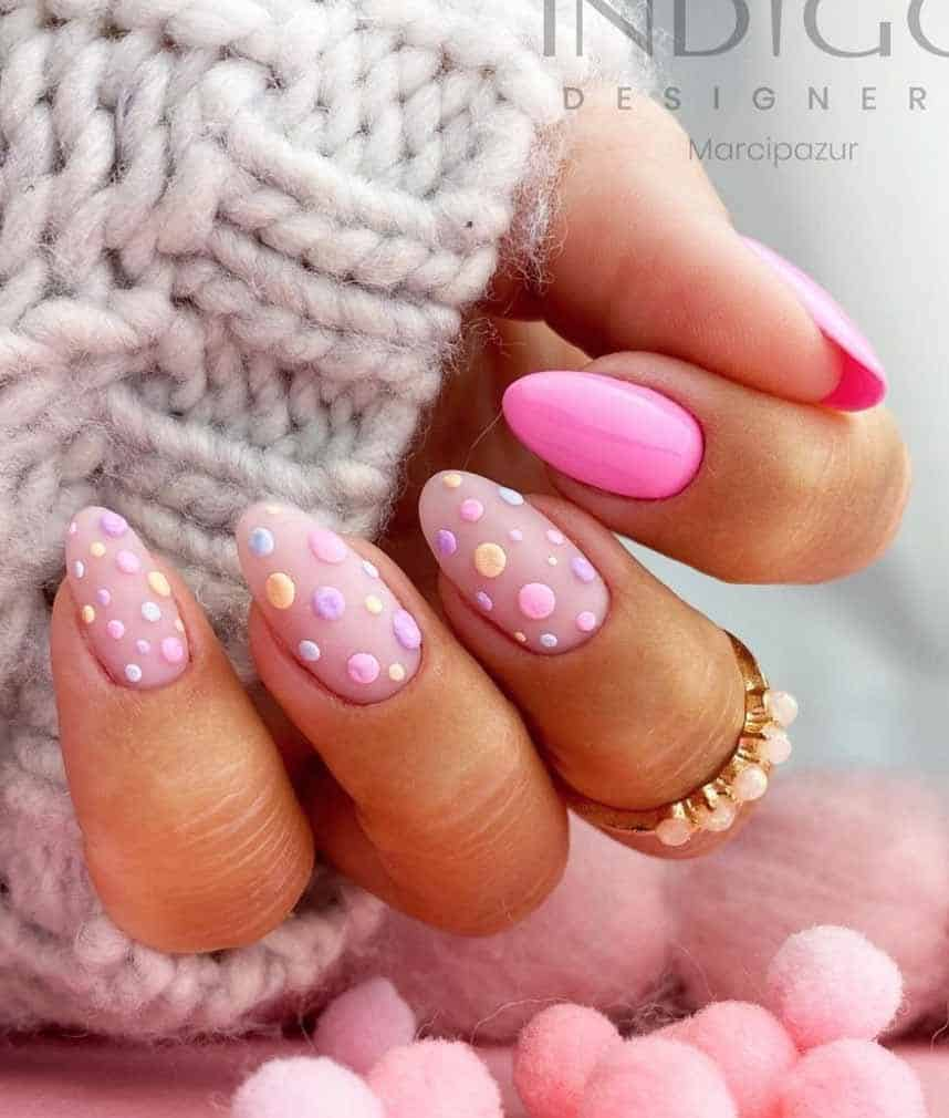 candy floss nails