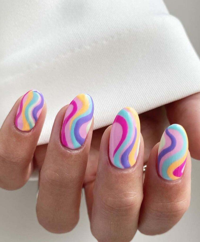 Candy Swirl Nails