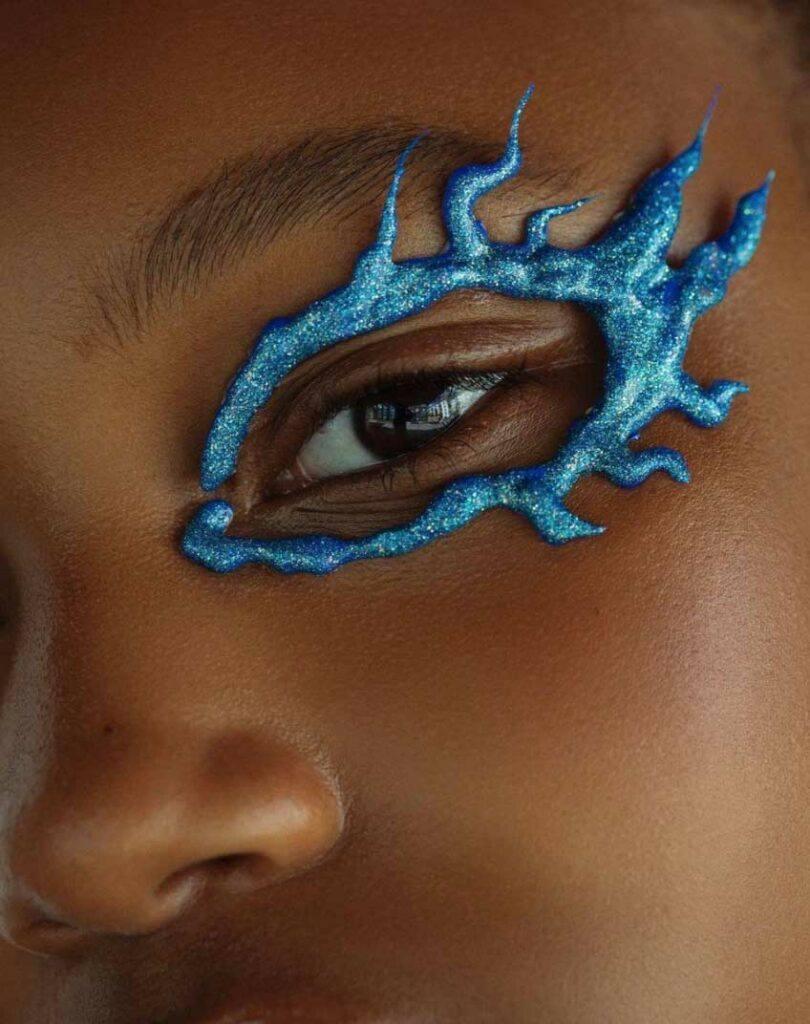 Blue fiery eyes