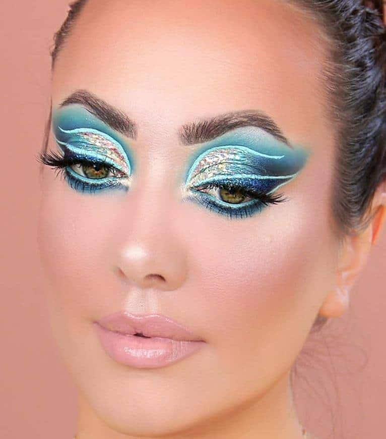 Blue mystical eyeshadow