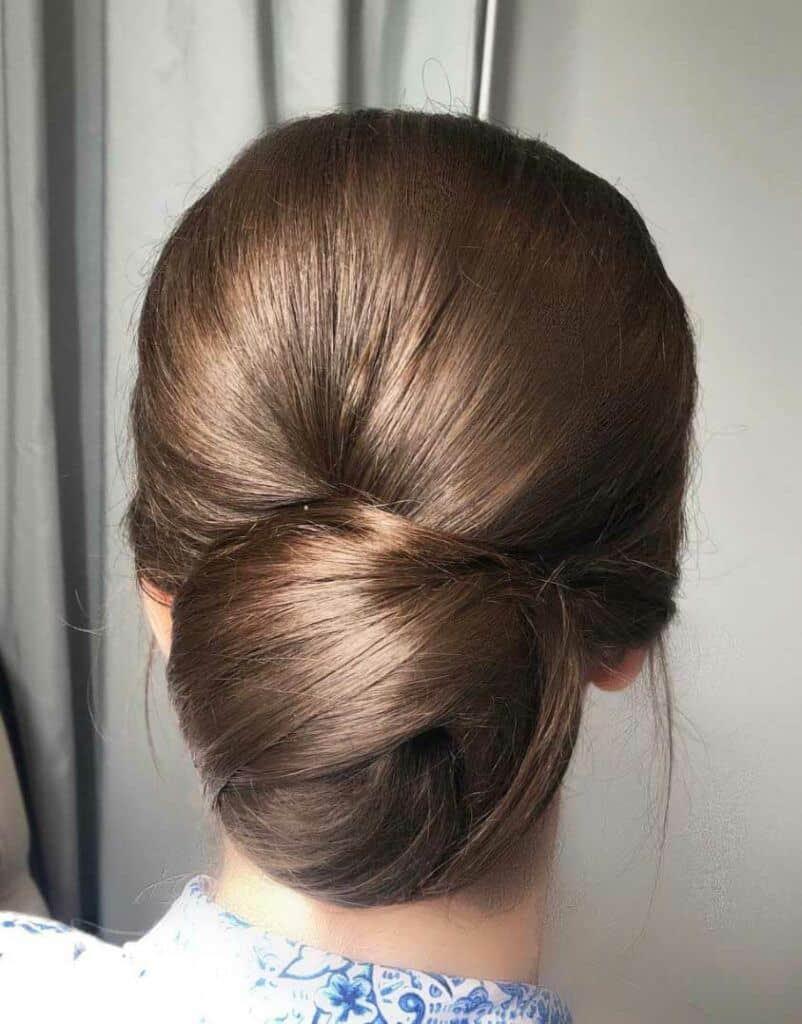 low sleek bun