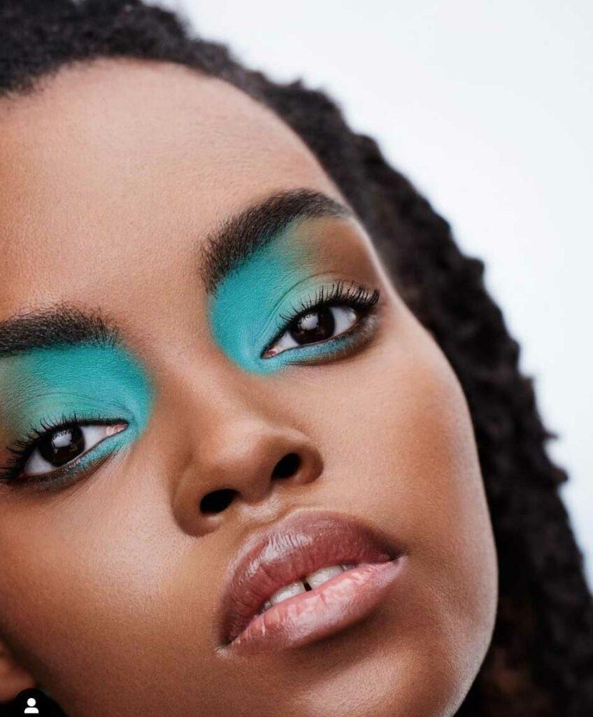 Turquoise brown eyeshadow