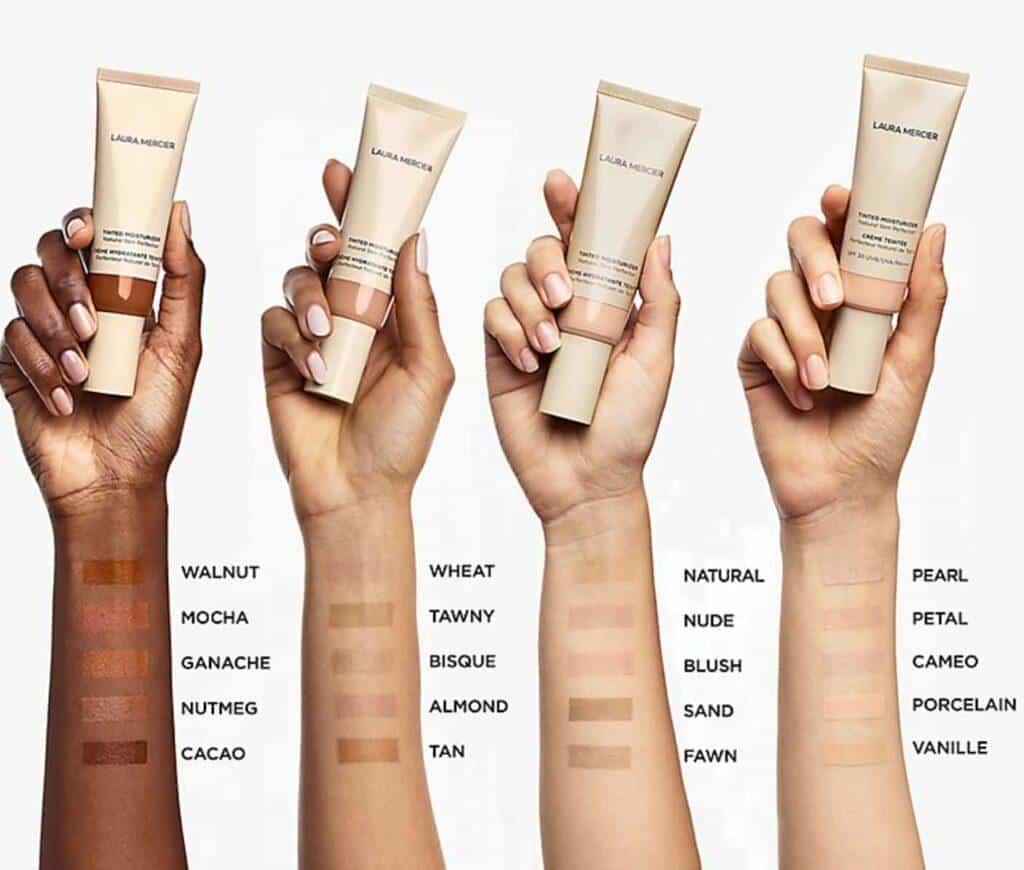 Laura Mercier Tinted Moisturizer Natural Skin Perfector swatches